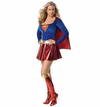 Women's Supergirl Fancy Dress Costume
