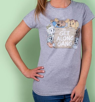 Women's The Get Along Gang Retro Logo Sport Grey T-Shirt