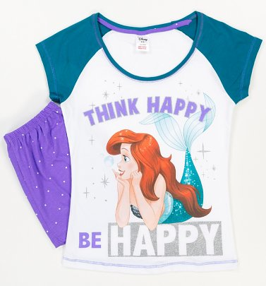 Women's The Little Mermaid Be Happy Shortie Pyjamas
