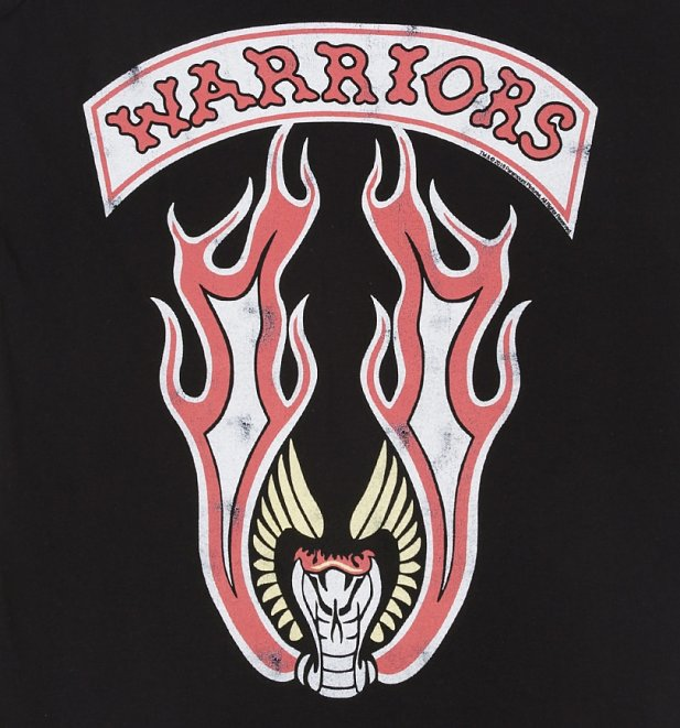 Women's The Warriors Snake Crest Black Vest