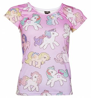 Women's Vintage My Little Pony Ombre T-Shirt