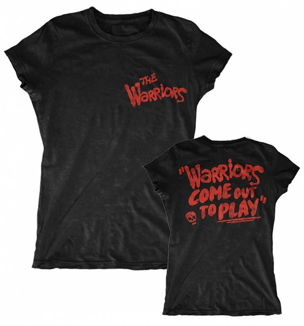 Women's Warriors Come Out To Play Black T-Shirt