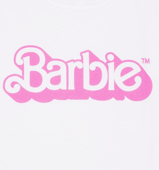 Women's White Barbie 80's Logo Vest