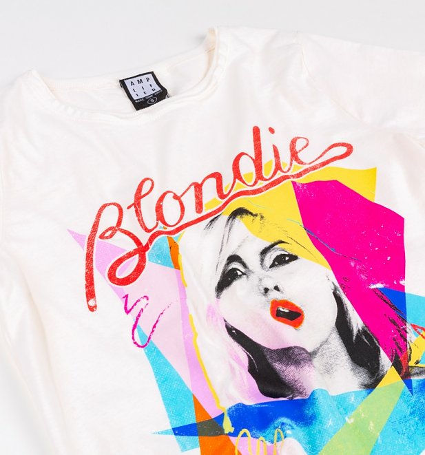 Women's White Blondie Ahoy 80s T-Shirt from Amplified