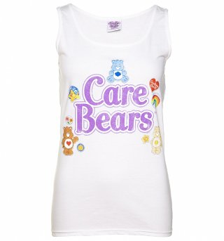Women's White Care Bears Logo with Badges Vest