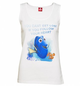 Women's White Disney Follow your Heart Finding Dory Vest