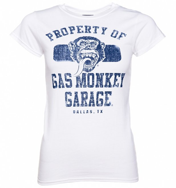 Women S White Gas Monkey Garage T Shirt