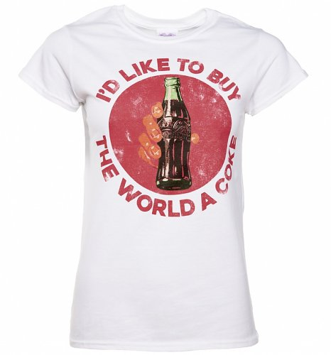 Women's White I'd Like To Buy The World a Coke T-Shirt