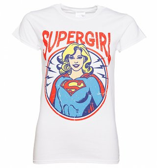 Women's White Supergirl T-Shirt