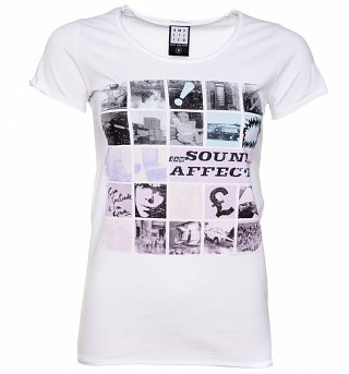 Women's White The Jam Sound Affects T-Shirt from Amplified