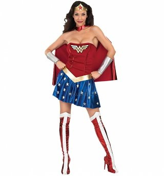 Women's Wonder Woman Fancy Dress Costume