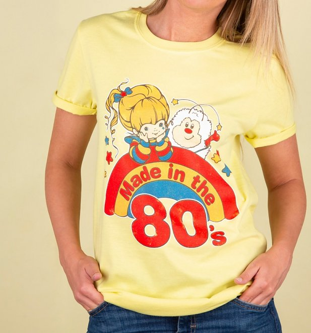 Women's Yellow Rainbow Brite Made in the 80's Rolled Sleeve Boyfriend T-Shirt