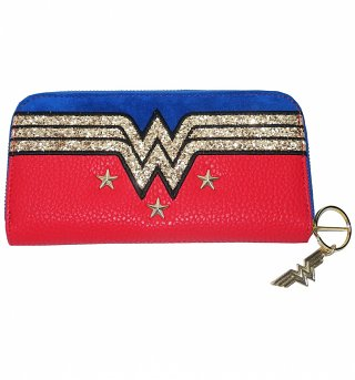 Wonder Woman Stars And Glitter Purse