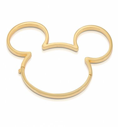 Yellow Gold Plated Mickey Mouse Bangle from Disney by Couture Kingdom