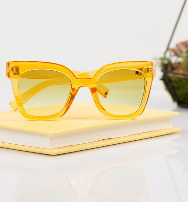 Yellow Oversized Sunglasses from Jeepers Peepers