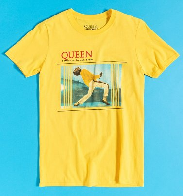 Yellow Queen Break Free T-Shirt