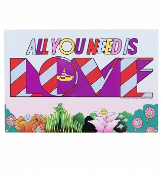 Yellow Submarine All You Need Is Love Metal Sign