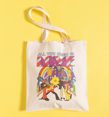 Yellow Submarine All You Need Is Love Tote Bag