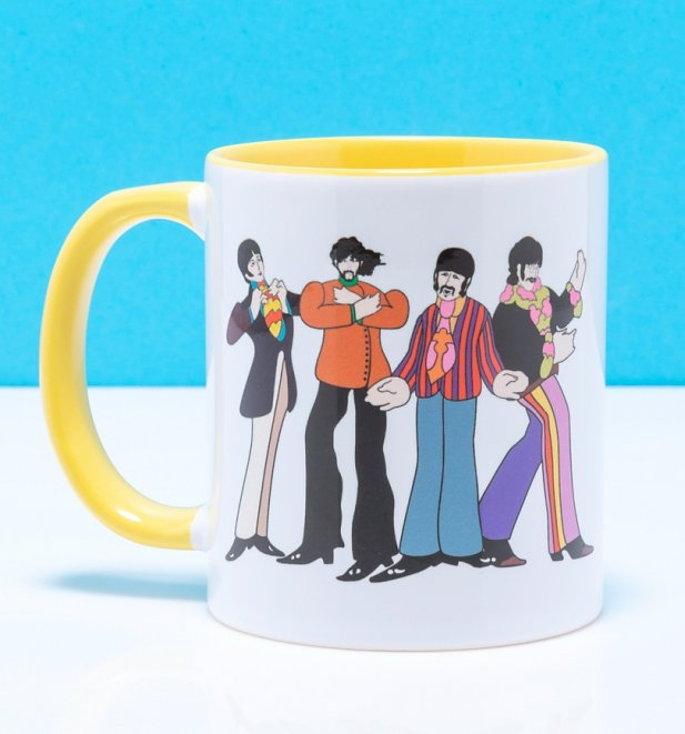 Yellow Submarine Love Yellow Handled Mug