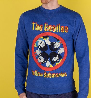 Yellow Submarine Porthole Heather Royal Sweater