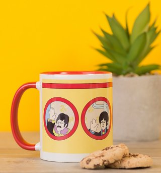 Yellow Submarine Portholes Coloured Handle Mug