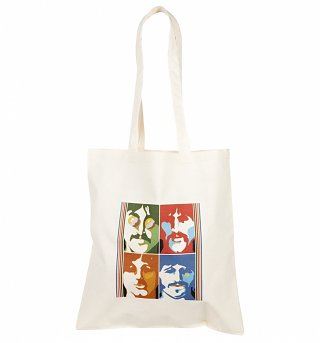 Yellow Submarine Psychedelic Beatles Tote Bag