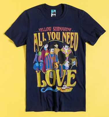 Yellow Submarine Psychedelic Navy T-Shirt