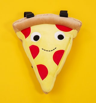 Yummy World Plush Cheezy Pie Pizza Slice Backpack from Kidrobot