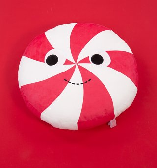 Yummy World Plush Peppermint Sweetie Cushion from Kidrobot