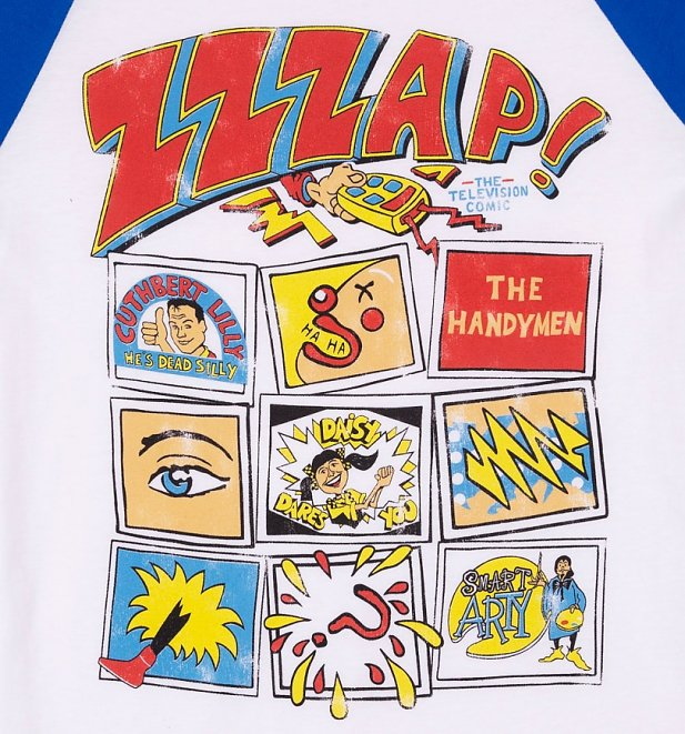 Free Comic Book Day 2019 List: Zzzap Inspired Comic Book Cover White And Blue Raglan