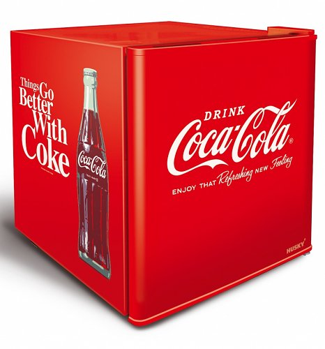 things go better with coke mini fridge from husky. Black Bedroom Furniture Sets. Home Design Ideas
