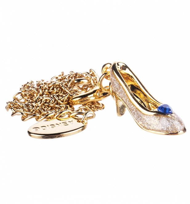 14kt Gold Plated Cinderella Slipper Charm And Necklace from Disney Couture