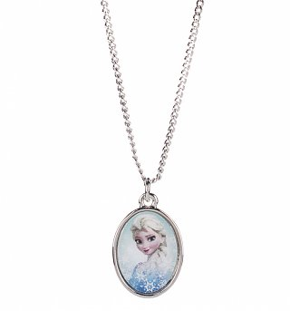 14kt White Gold Plated Frozen Elsa Cameo Necklace from Disney Couture