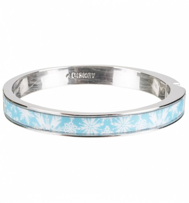 14kt White Gold Plated Frozen Let It Go Bangle