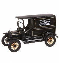 Coca-Cola 1917 Ford Model T Black 1:24 Scale Diecast Model