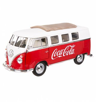 Coca-Cola 1962 Volkswagen Samba Mini Bus 1:18 Scale Diecast Model