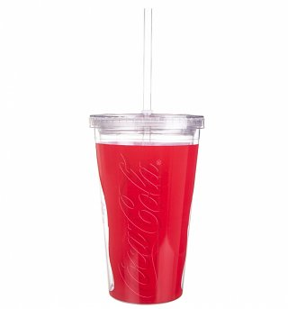 Coca-Cola Acrylic Travel Cup & Straw