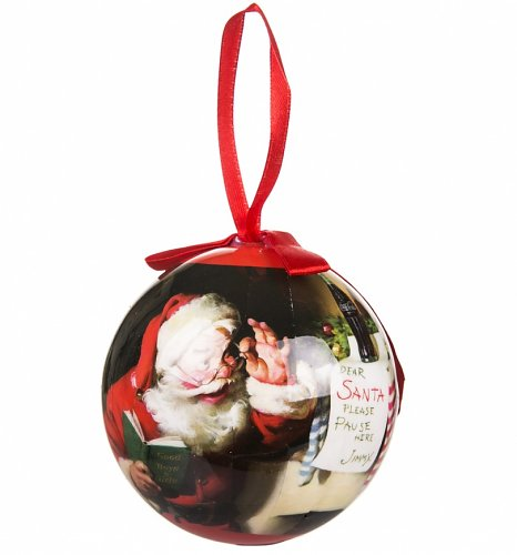 Coca-Cola Classic Santa Hand Crafted Bauble