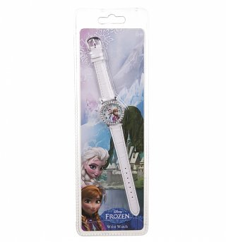 Disney White Frozen Diamante Watch