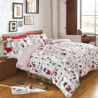 Double Beano Scrap Book Duvet Cover Set from Ashley Wilde