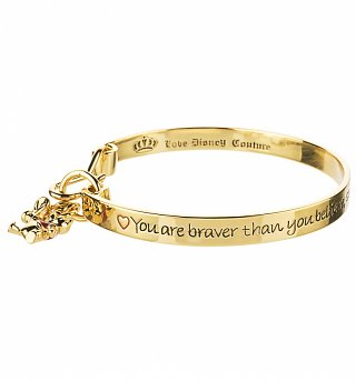 Gold Plated Braver Than You Believe Winnie The Pooh Bangle from Disney Couture
