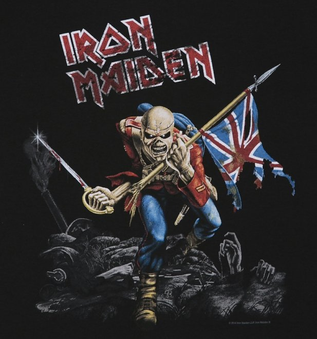 Kids Black Iron Maiden Trooper T-Shirt