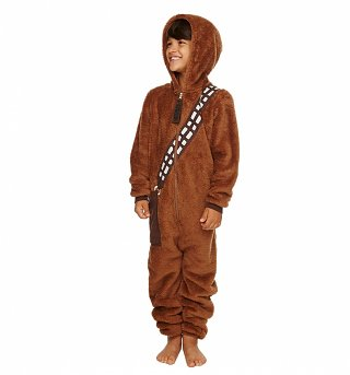 Kids Brown Chewbacca Costume Onesie