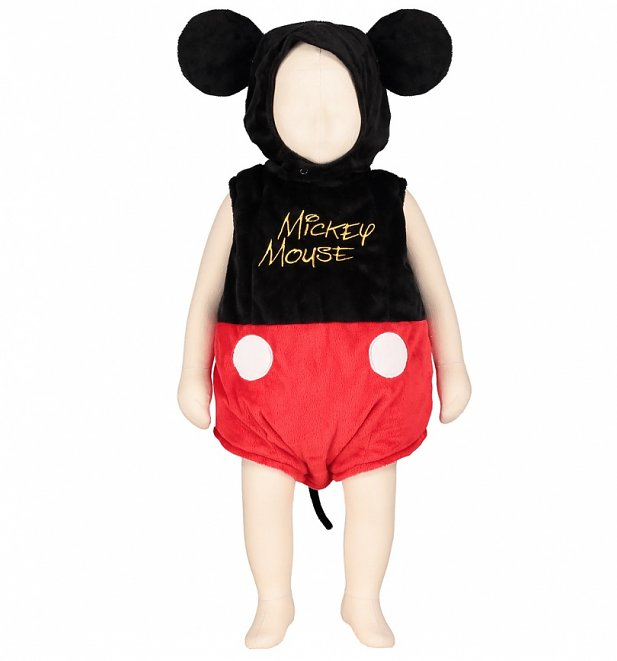 Kids Disney Mickey Mouse Bodysuit Costume With Hood