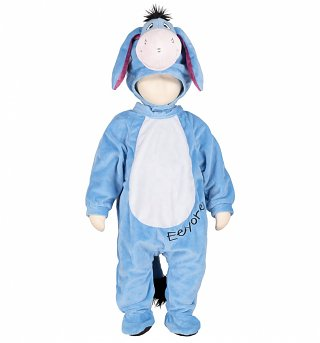 Kids Eeyore Winnie The Pooh Hooded All-In-One Costume