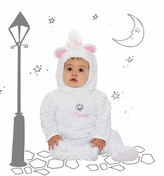 Kids Marie Aristocats Hooded All-In-One Costume