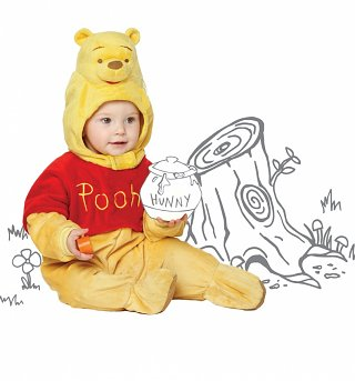 Kids Winnie The Pooh Hooded All-In-One Outfit