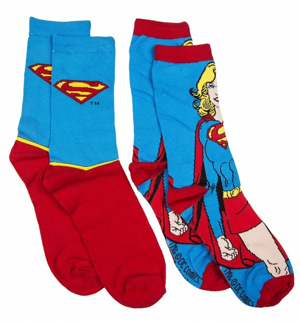 Women's DC Comics Supergirl 2pk Socks