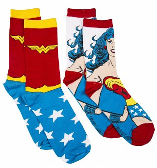 Women's DC Comics Wonder Woman 2pk Socks