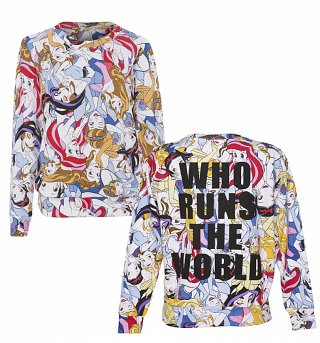 Women's Disney Princess Runs The World All Over Print Sweater from Eleven Paris